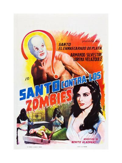 Santo Contra los Zombies (aka Invasion of the Zombies)--Art Print