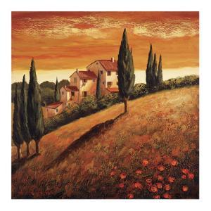 Sunset Over Tuscany I by Santo De Vita