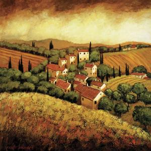 Tuscan Hillside Village by Santo De Vita