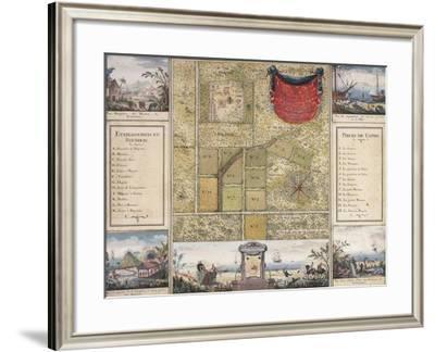 Santo Domingo Map and Charles Baltazar's Estate-Julien Fevret Di Saint-Mesmin-Framed Giclee Print
