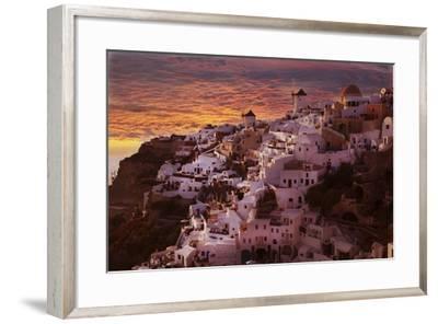 Santorini 2-Chris Bliss-Framed Photographic Print