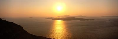 Santorini from Athinios, Greece--Photographic Print