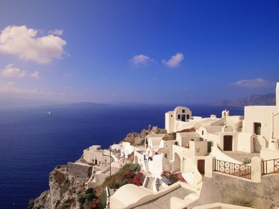 Santorini, Greece-Walter Bibikow-Photographic Print