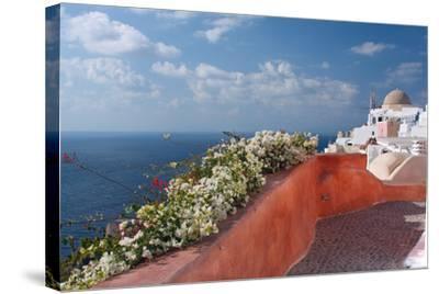 Santorini, Greece-Dikti-Stretched Canvas Print
