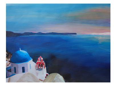 Santorini Greek Island View-M Bleichner-Art Print