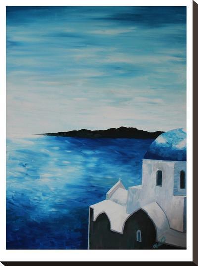 Santorini I-M Bleichner-Stretched Canvas Print