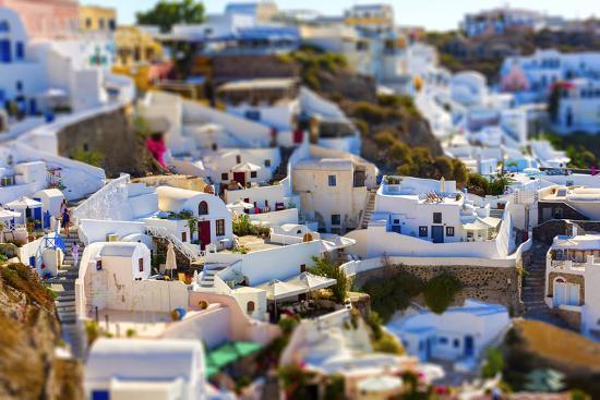 Santorini Island, Greece, Tilt-Shift Effect-anastasios71-Photographic Print