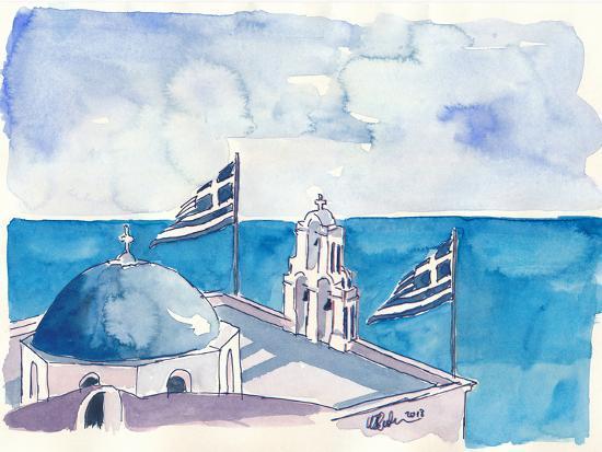 Santorini Oia Greece-Markus Bleichner-Art Print