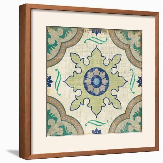 Santorini Tile I-Pela Design-Framed Photographic Print