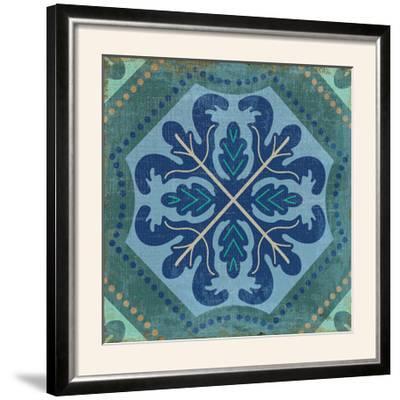 Santorini Tile II-Pela Design-Framed Photographic Print