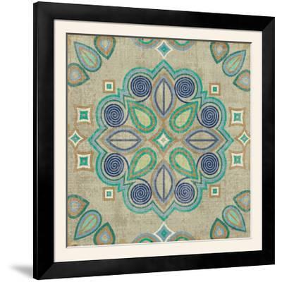 Santorini Tile III-Pela Design-Framed Photographic Print