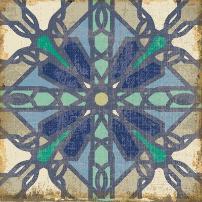 Santorini Tile IV--Art Print