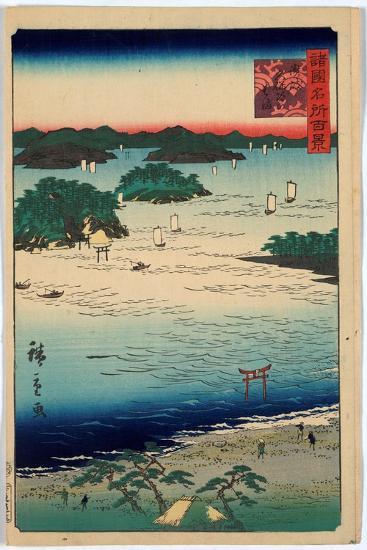 Sanuki Kubodani No Hama-Utagawa Hiroshige-Giclee Print