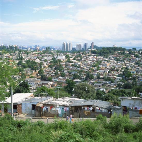 Sao Paolo Shanty Town, Brazil, South America-David Lomax-Photographic Print