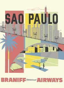 Sao Paulo, Brazil - Braniff International Airways