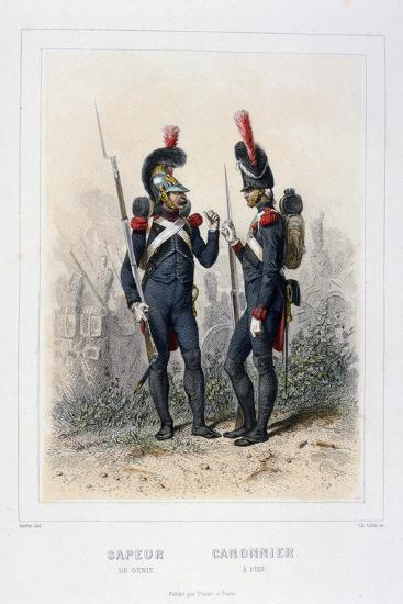 Sapper and Gunner, Napoleon's Imperial Guard-C Colin-Giclee Print