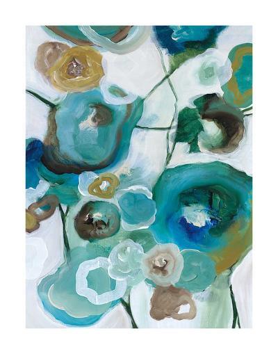 Sapphire Blooms I-Cat Tesla-Giclee Print