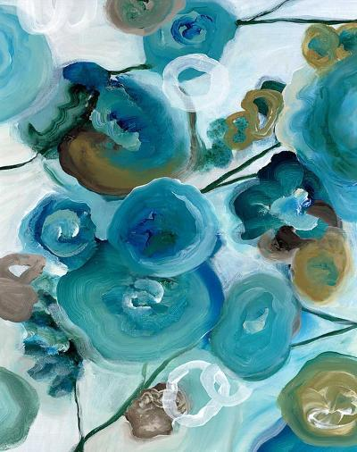 Sapphire Blooms II-Cat Tesla-Art Print