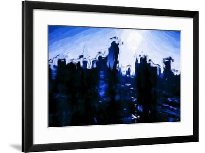 Sapphire Skyline - In the Style of Oil Painting-Philippe Hugonnard-Framed Giclee Print
