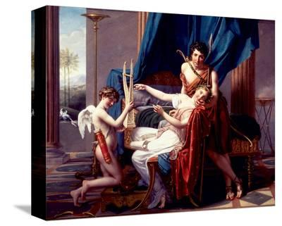 Sappho and Phaon, 1809-Jacques-Louis David-Stretched Canvas Print