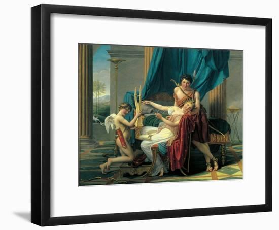 Sappho and Phaon-Jacques-Louis David-Framed Art Print