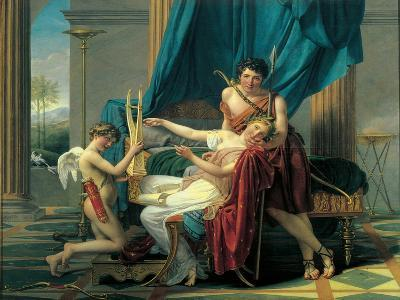 Sappho and Phaon-Jacques-Louis David-Art Print