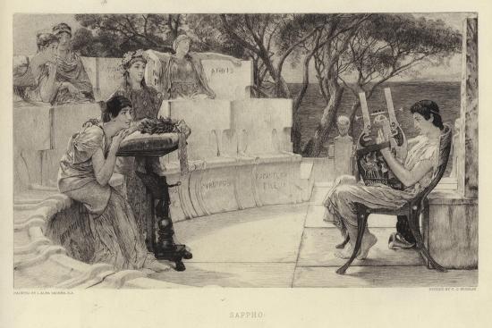 Sappho-Sir Lawrence Alma-Tadema-Giclee Print