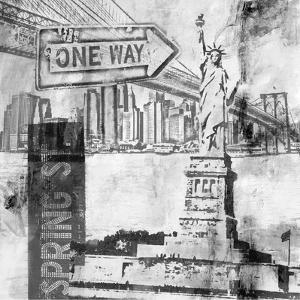 New York One Way B&W by Sara Abbott