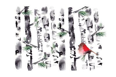 Bird in Birch