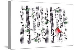 Bird in Birch by Sara Berrenson