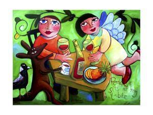Peace Sits at My Table by Sara Catena