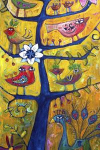 Santosha Tree 2 (Tree of Contentment 2) by Sara Catena