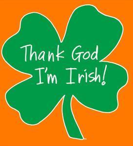 Thank God I'm Irish Shamrock by Sara Catena