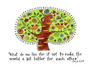 Watercolor Planet - a Better World by Sara Catena