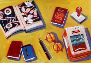 Glasses and Pencil by Sara Hayward