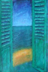 Green Shutters by Sara Hayward