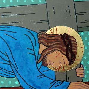 Jesus falls by Sara Hayward