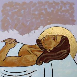 Jesus is laid in the tomb by Sara Hayward