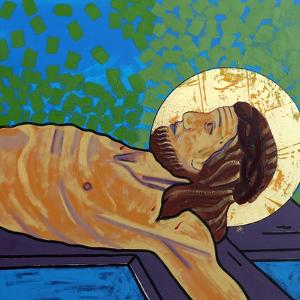 Jesus is nailed to the cross by Sara Hayward