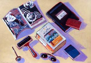 Roller and Sunglasses by Sara Hayward