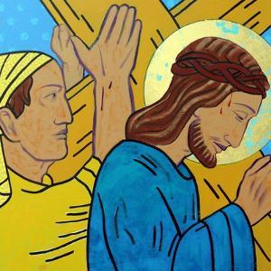 Simon helps Jesus by Sara Hayward