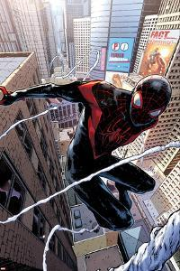 Spider-Man #1 Cover Featuring Ultimate Spider-Man Morales by Sara Pichelli