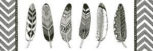 Geo Feathers V by Sara Zieve Miller