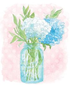 Happy Hydrangea by Sara Zieve Miller