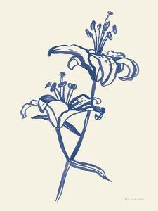 Ink Lilies I Blue by Sara Zieve Miller