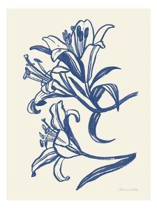 Ink Lilies II Blue by Sara Zieve Miller