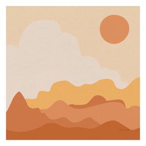Mountainous I Orange by Sara Zieve Miller