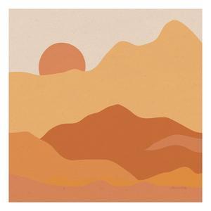 Mountainous II Orange by Sara Zieve Miller