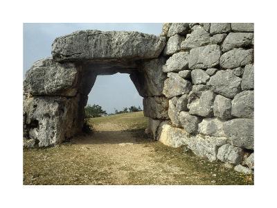 Saracen Door, Megalithic Walls of Segni, Lazio, Italy--Giclee Print