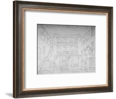 Saracen's Head Inn, Aldgate, London, 1856-Thomas Hosmer Shepherd-Framed Giclee Print
